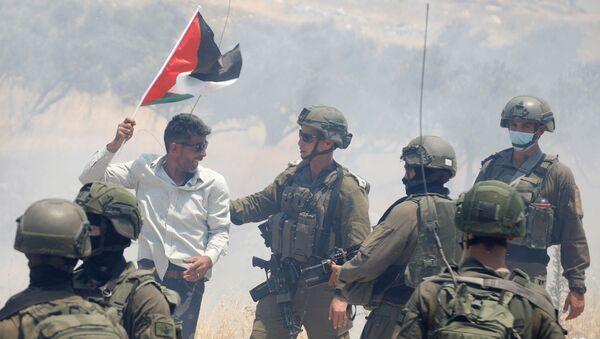 Protestas contra la anexión de Cisjordania por Israel (archivo) - Sputnik Mundo