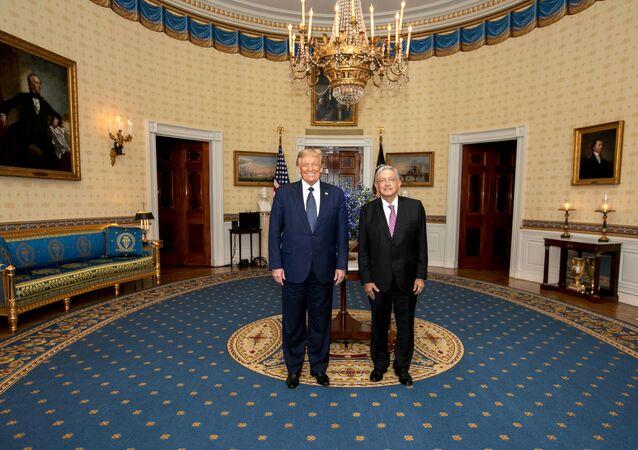 Los presidentes de México y EEUU, Andrés Manuel López Obrador y Donald Trump