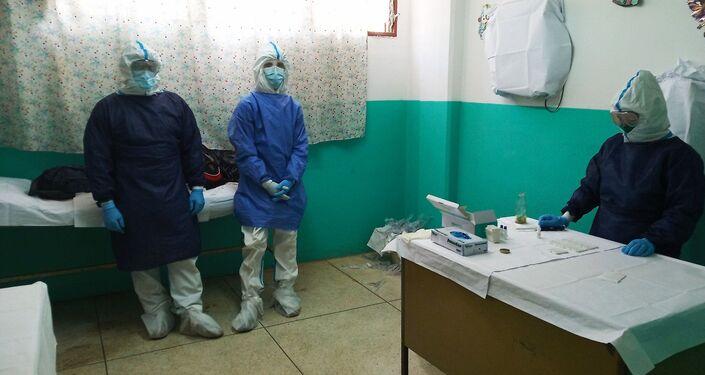 Sala de despistaje de COVID-19 en unas de las instalaciones dentro del cerco epidemiológico