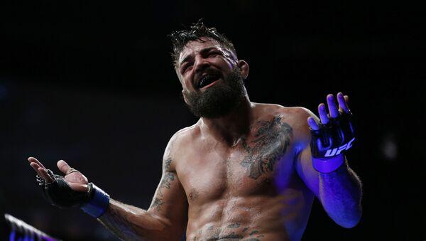Mike Perry tras una pelea de UFC (archivo) - Sputnik Mundo