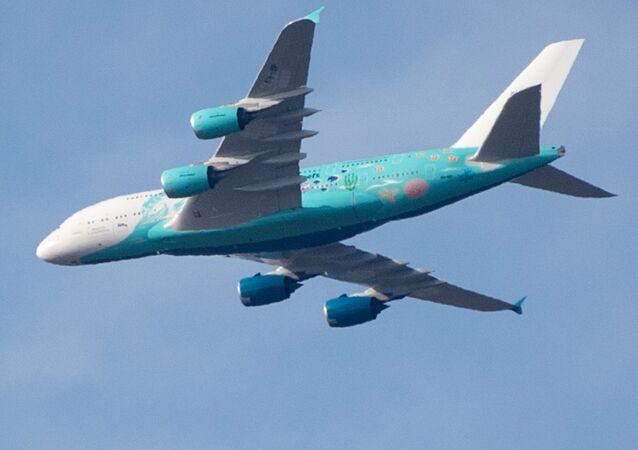 Airbus A380-841de la aerolínea Hi Fly