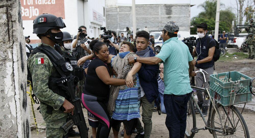La escena de uno de los recientes masacres de Guanajuato