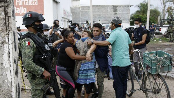La escena de uno de los recientes masacres de Guanajuato - Sputnik Mundo
