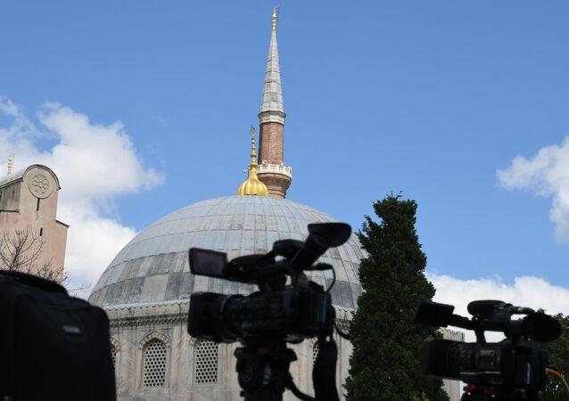 La catedral de Santa Sofía en Estambul, Turquía
