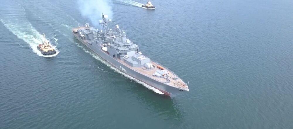 Así es como se pone a prueba la fragata Mariscal Shaposhnikov