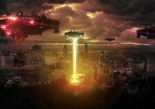 Ataque extraterrestre. Imagen referencial