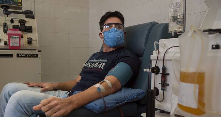 Facundo Ahumada, donante de plasma en Argentina