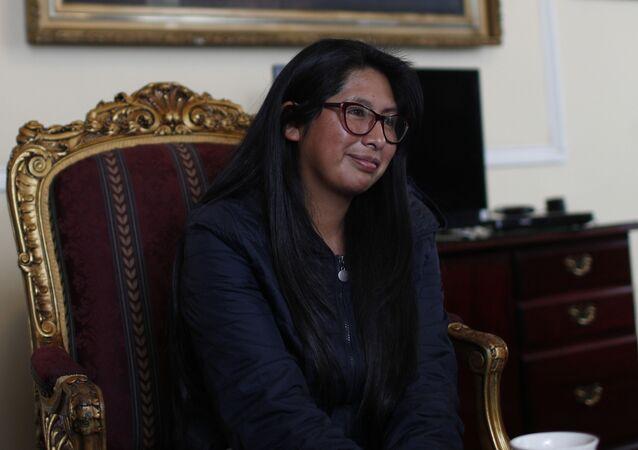 Eva Copa, presidenta de la Asamblea Legislativa Plurinacional de Bolivia