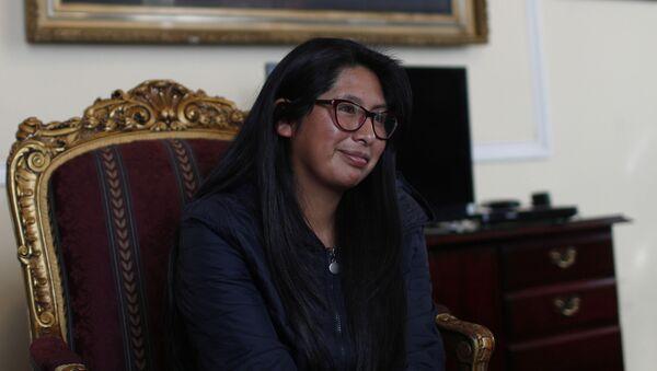 Eva Copa, presidenta de la Asamblea Legislativa Plurinacional de Bolivia - Sputnik Mundo