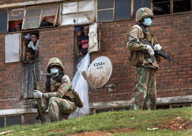Policía sudafricana en Johannesburgo (archivo)