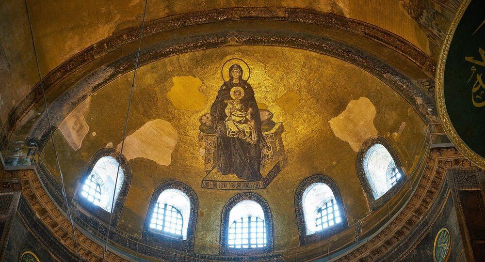 Mosaico cristiano en Santa Sofía