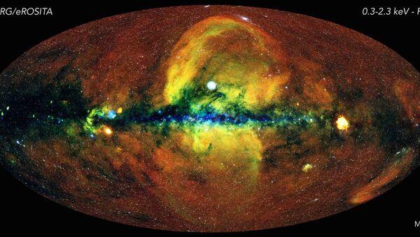 El mapa celestial que muestra el cielo en rayos X  - Sputnik Mundo