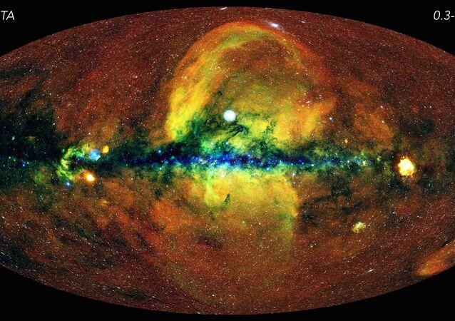 El mapa celestial que muestra el cielo en rayos X