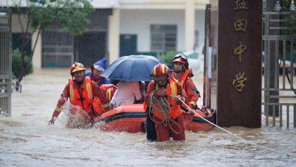 Inundaciones en China - Sputnik Mundo