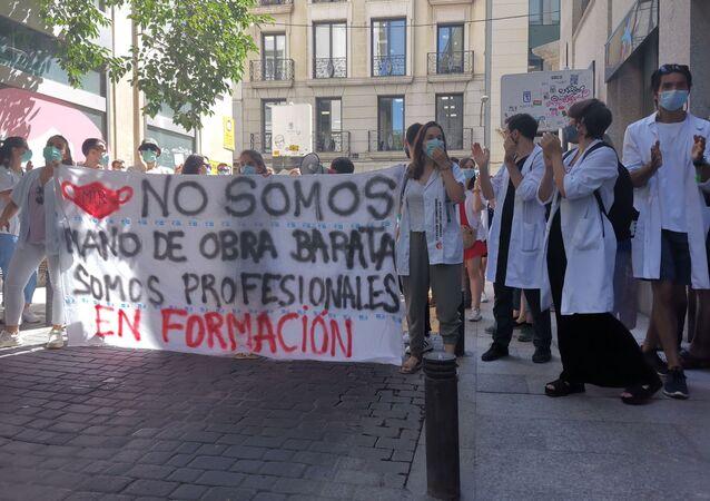 Manifestación de los médicos residentes en Madrid