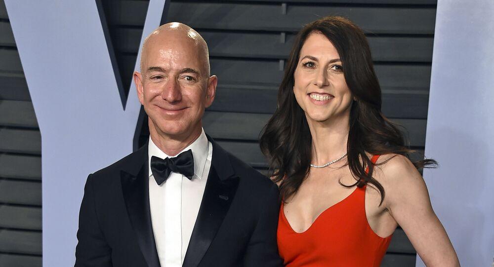 El fundador de Amazon, Jeff Bezos, y su exesposa, MacKenzie Bezos