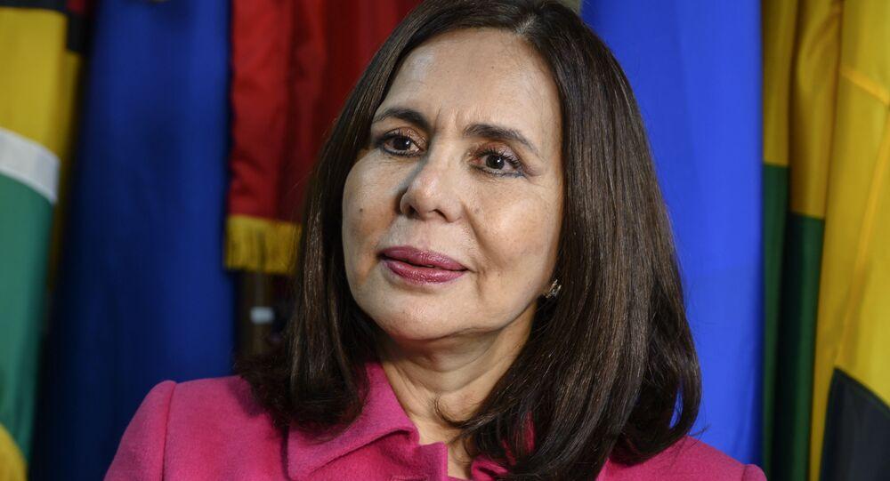 Karen Longaric, la canciller de Bolivia