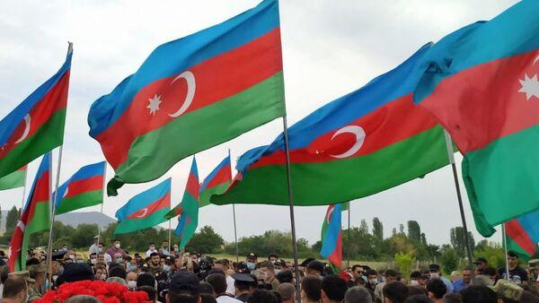 Funerales de los militares de Azerbaiyán - Sputnik Mundo
