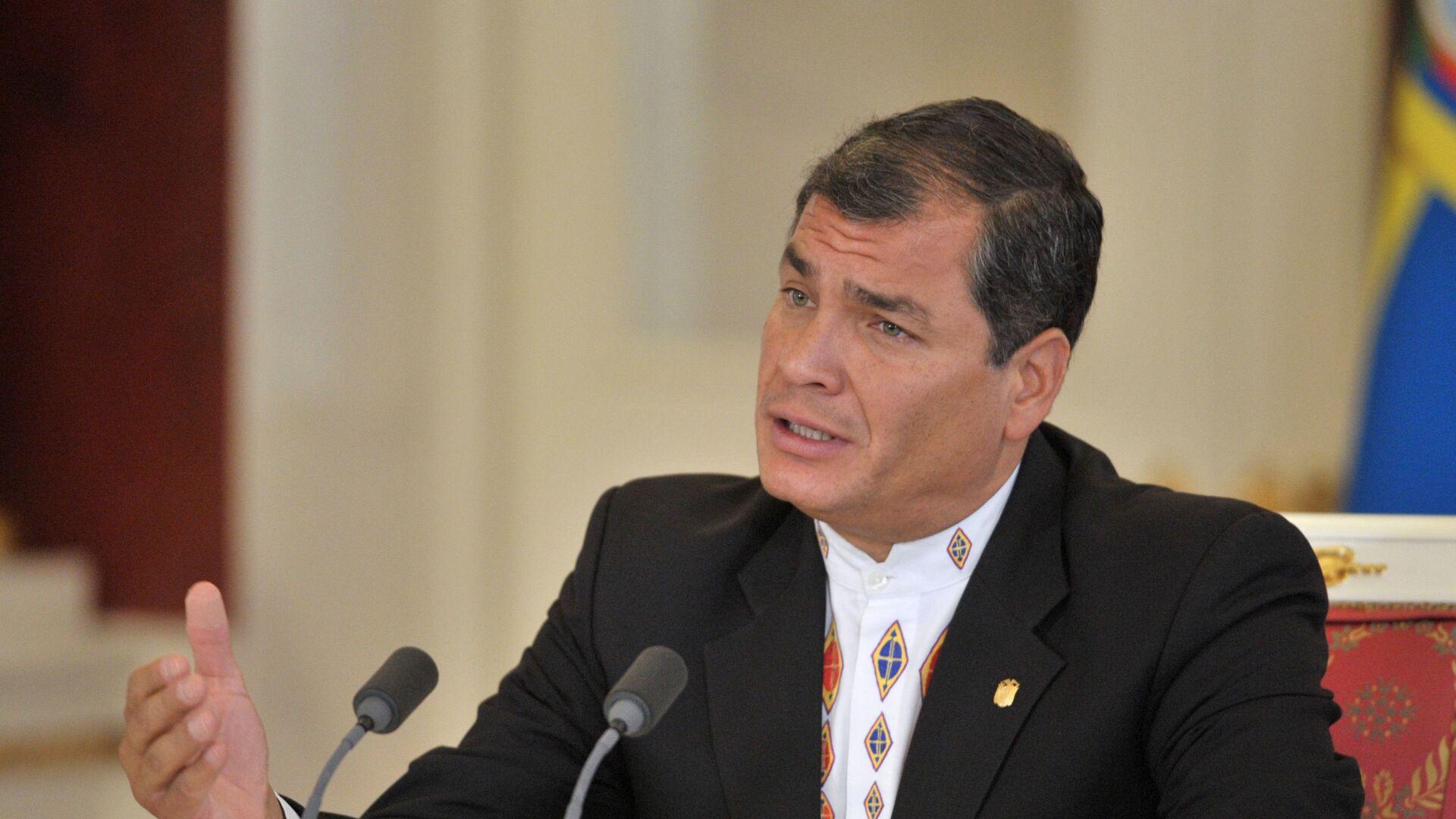 Rafael Correa, expresidente de Ecuador - Sputnik Mundo, 1920, 11.02.2021