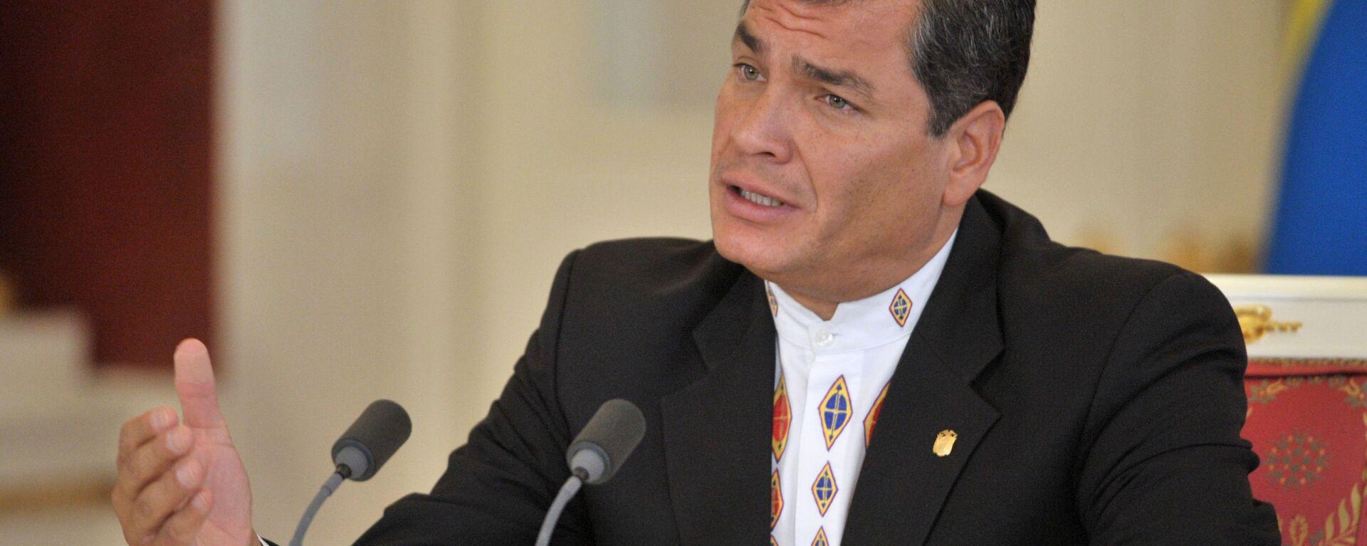 Rafael Correa, expresidente de Ecuador - Sputnik Mundo, 1920, 07.05.2021