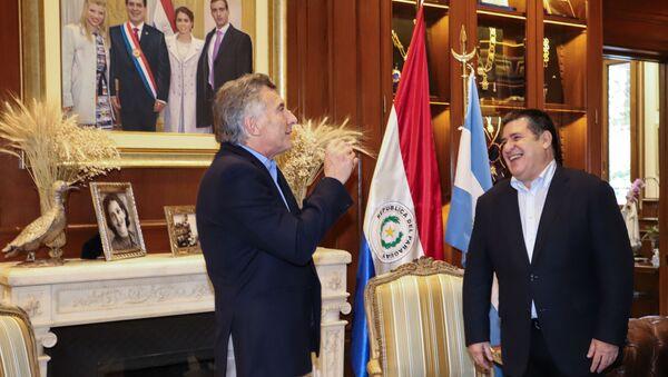 El expresidente argentino Mauricio Macri y el exmandatario paraguayo Horacio Cartes - Sputnik Mundo