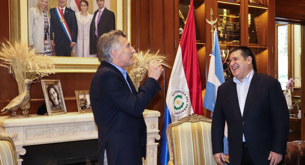 El expresidente argentino Mauricio Macri y el exmandatario paraguayo Horacio Cartes