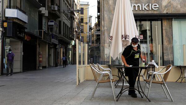 Una cafetería en la ciudad española de Lleida - Sputnik Mundo