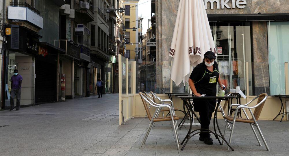 Una cafetería en la ciudad española de Lleida