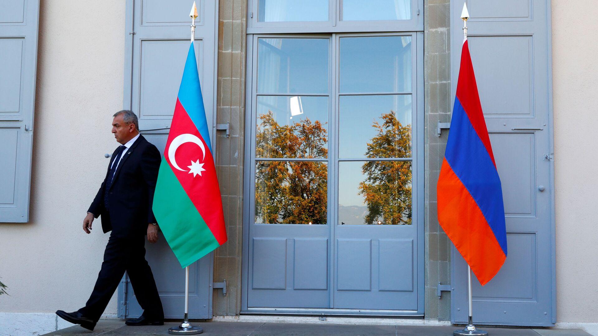 Banderas de Armenia y Azerbaiyán  - Sputnik Mundo, 1920, 23.07.2020