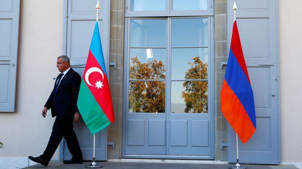Banderas de Armenia y Azerbaiyán  - Sputnik Mundo