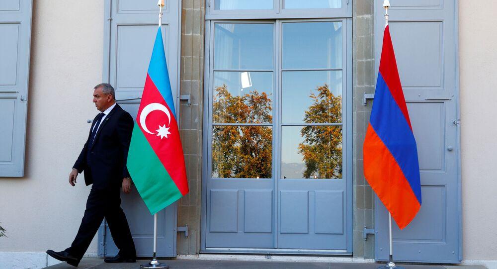 Banderas de Armenia y Azerbaiyán