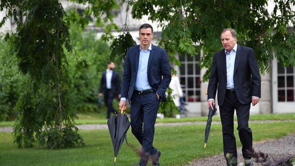Pedro Sánchez y el primer ministro de Suecia - Sputnik Mundo