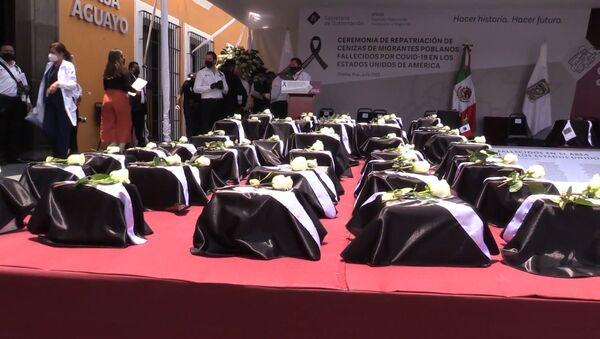 Puebla se despide de 105 ciudadanos mexicanos que fallecieron de coronavirus en EEUU - Sputnik Mundo