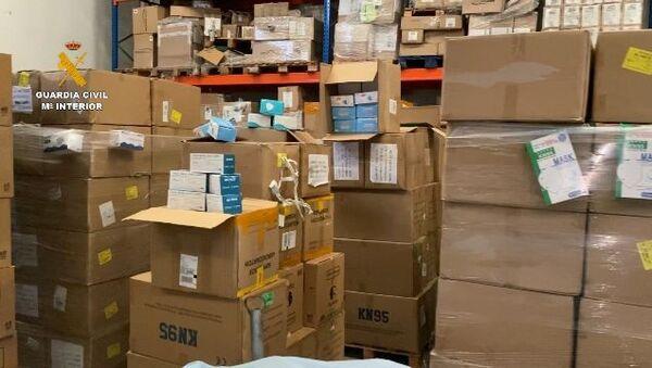 Guardia Civil desmantela red que vendía material sanitario vencido - Sputnik Mundo