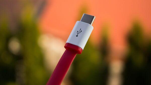 Un cable USB, referencial - Sputnik Mundo