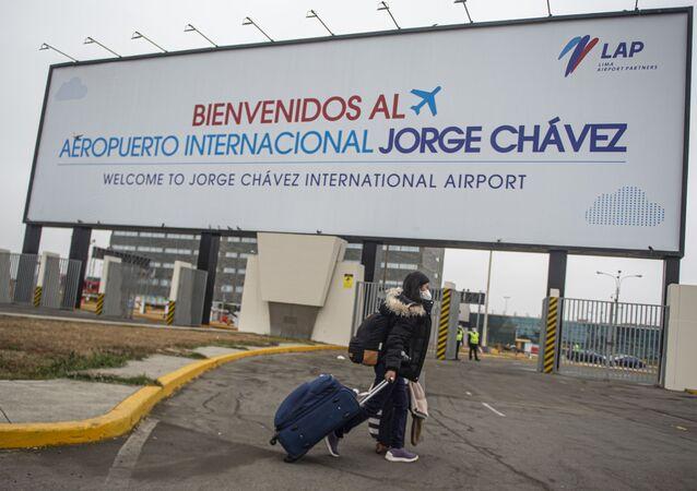 El Aeropuerto Internacional Jorge Chávez, en Lima, Perú
