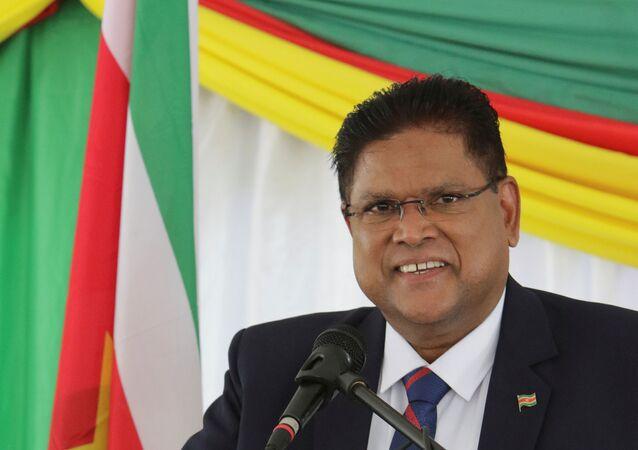 Chandrikapersad Chan Santokhi, presidente electo de Surinam