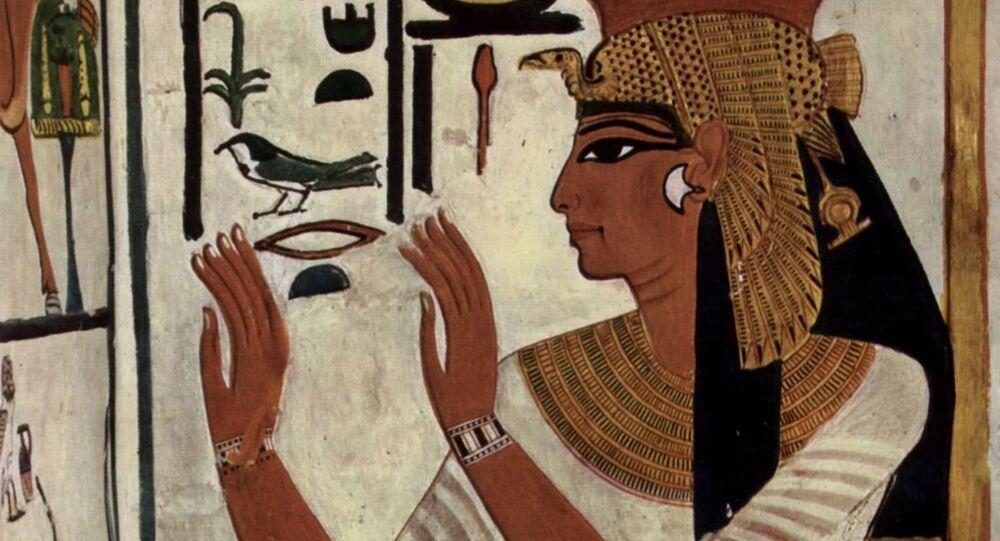 Jeroglíficos egipcios, ilustración