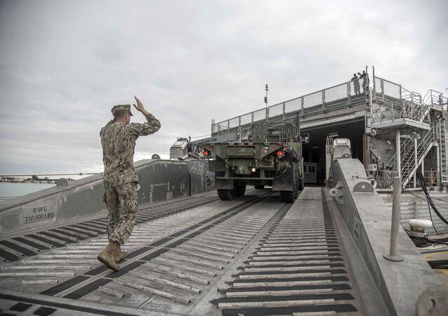 Un militar de EEUU en Rota, España