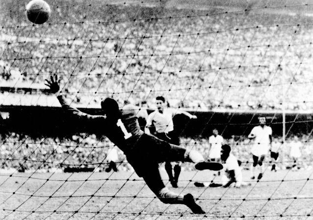 El primer gol de Uruguay contra Brasil en la final del Mundial de Fútbol 1950