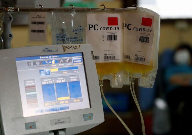 Bolsas con plasma sanguíneo (imagen referencial)