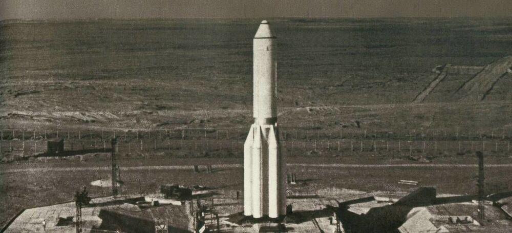 Ракета Протон перед стартом, 1965 год