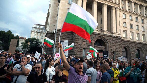 Protesta antigubernamental en Sofía, Bulgaria - Sputnik Mundo