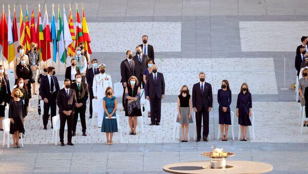 Homenaje a las víctimas del COVID-19 en Madrid - Sputnik Mundo
