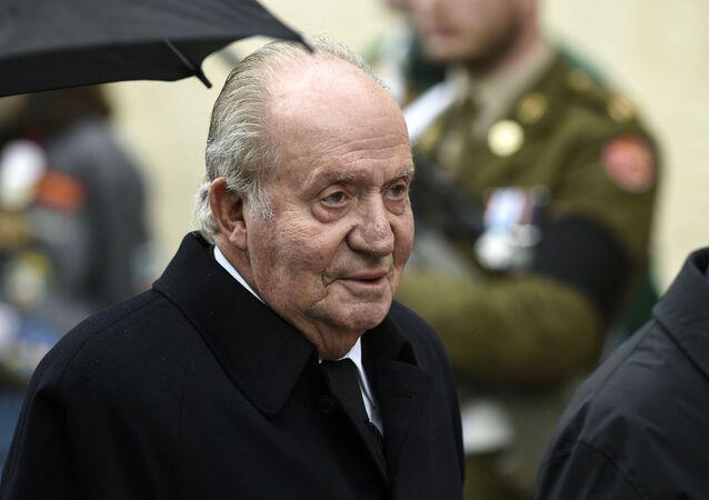 Rey emérito Juan Carlos I en un acto en Luxemburgo