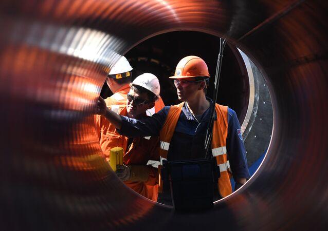 Construcción de Nord Stream 2