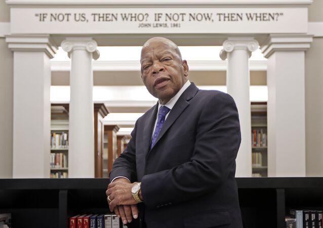 John Lewis, congresista demócrata de Atlanta y defensor de los derechos civiles en EEUU