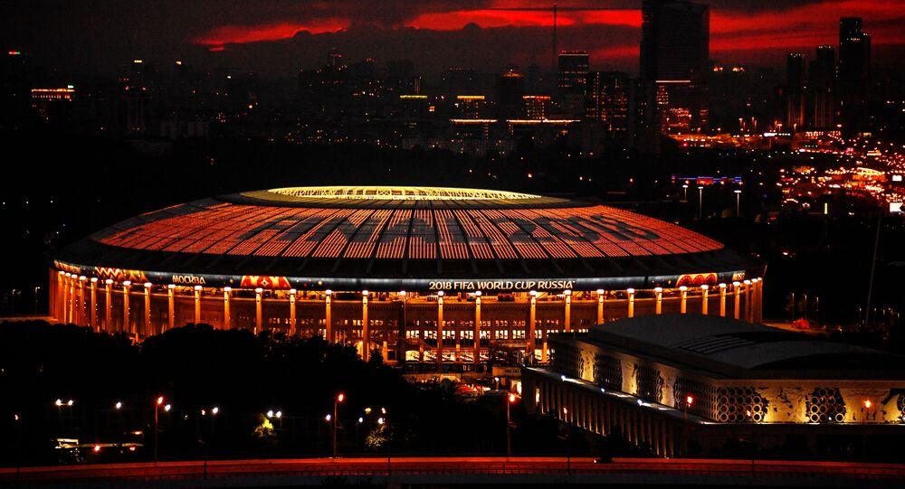 El estadio Luzhniki el día de la final del Mundial de fútbol de Rusia (2018)