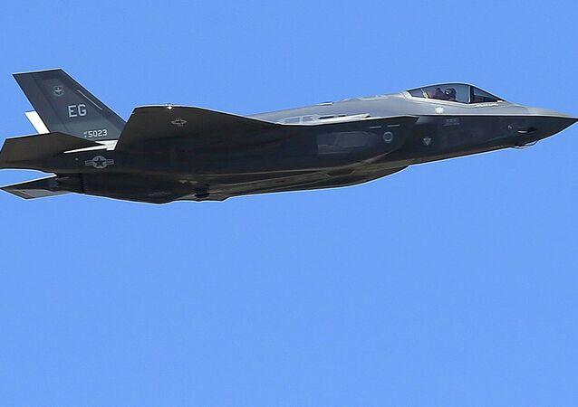 Un caza estadounidense F-35A