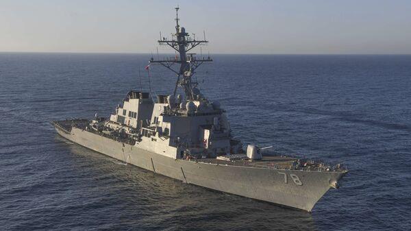 El destructor estadounidense USS Porter (archivo) - Sputnik Mundo